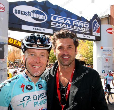 Stock Photo of US Pro Challenge Stg 6 Golden - Boulder - Patrick Dempsey and Levi Leipheimer