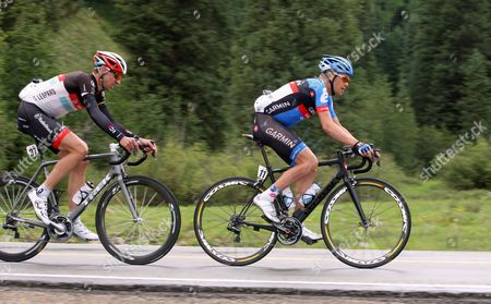 US Pro Challenge Stg 1 Durango - Telluride - Tom Danielson and Jens Voigt