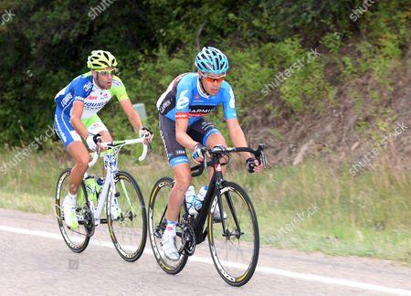 US Pro Challenge Stg 1 Durango - Telluride - Tom Danielson and Vincenzo Nibali