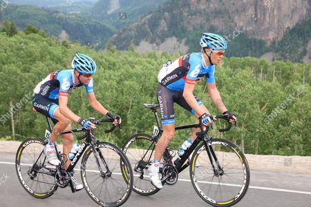US Pro Challenge Stg 1 Durango - Telluride - Tom Danielson and Peter Stetina