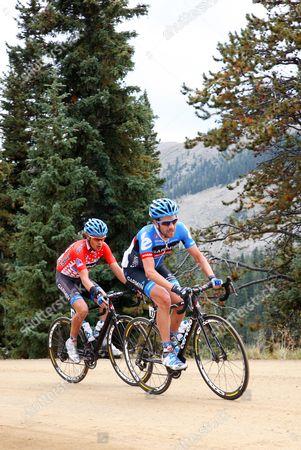 US Pro Challenge Stg 3 Gunnison - Aspen - Dave Zabriskie and Tom Danielson on Cottonwood pass