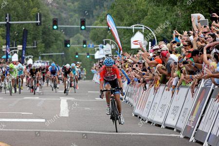 US Pro Challenge Stg 3 Gunnison - Aspen - Solo breakaway Tom Danielson (Garmin) wins stage in Aspen after epic stage lone break.