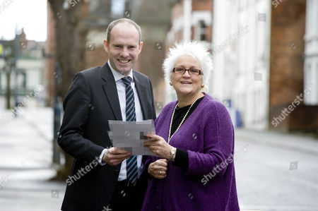 Cherry Jones with Justin Tomlinson MP (Con. Swindon North).