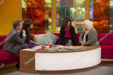 Aled Jones and Lorraine Kelly with Ann Jones and Karen Marley