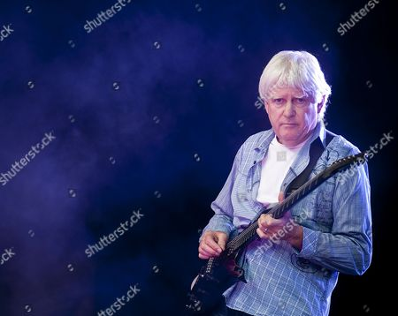 Stock Image of London United Kingdom - July 23: John Lees Of Barclay James Harvest Performing Live Onstage At High Voltage Festival On July 23 2011 In London
