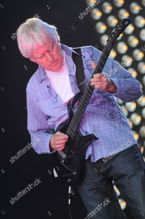 London United Kingdom - July 23: John Lees Of Barclay James Harvest Performing Live Onstage At High Voltage Festival On July 23 2011 In London