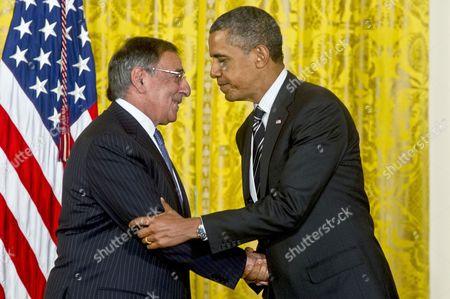 Leon E. Panetta and Barack Obama