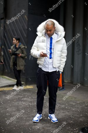 Editorial image of London Collections: Men, Street Style, London, Britain - 07 Jan 2013