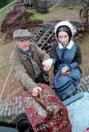 Paul Mari as Rory Jack Oldfield and Juliet Cowan as Joanna Franks