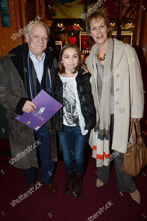 Stock Image of David Jason, wife Gill Hinchcliffe and daughter Sophie Mae