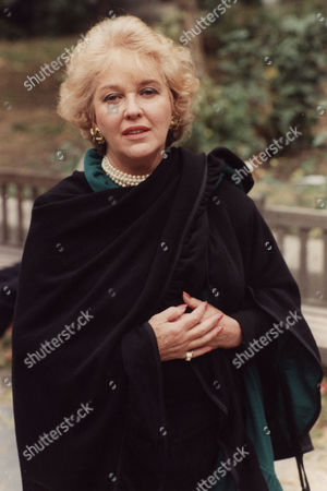 Editorial photo of Katie Boyle Television Personality Pictured At A Memorial Service Of Margaret Lockwood.