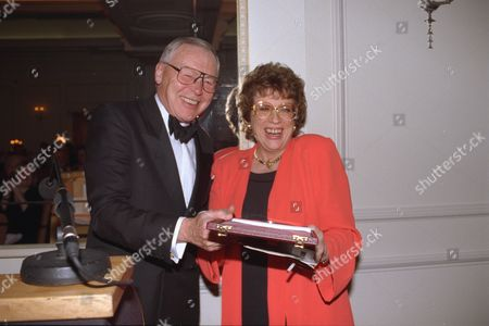 Sir David English Presenting An Award To Daily Mail Journalist Ann Leslie... Sir David Passed Away On 9/6/98.
