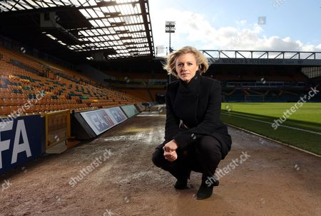 Editorial picture of Rebecca Lowe at the Norwich City Carrow Road ground, Norfolk, Britain - 13 Oct 2012