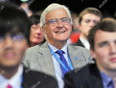 Conservative Party Annual Conference At Manchester Central Centre. - Kenneth Baker Lord Baker Of Dorking Sits In The Audience.