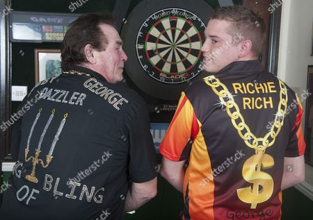 Stock Image of Bobby George and son Richie George