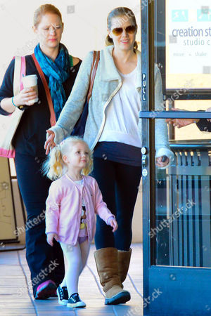 Amy Adams and Aviana Olea Le Gallo arriving at Creation Play