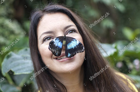 Rachel De Thame with a butterfly