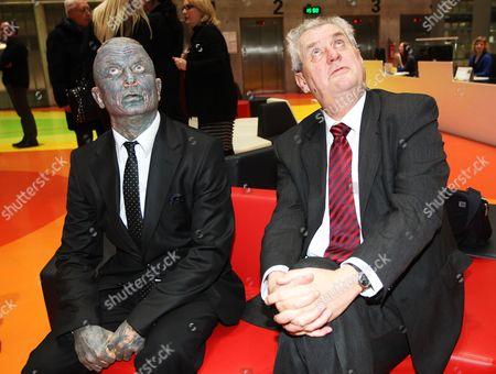 Presidential candidates Vladimir Franz and Milos Zeman