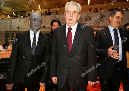 Presidential candidates Vladimir Franz, Milos Zeman and Jiri Dienstbier