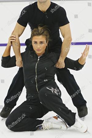 Lauren Goodger and Michael Zenezini training