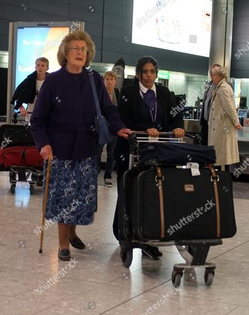 Editorial photo of Lady Pamela Hicks at Heathrow Airport, London, Britain - 07 Jan 2013