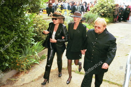 The Funeral Of Screaming Lord Sutch R.i.p. Saint Pauls Church South Harrow. With Giselle Menhennot On The Left.