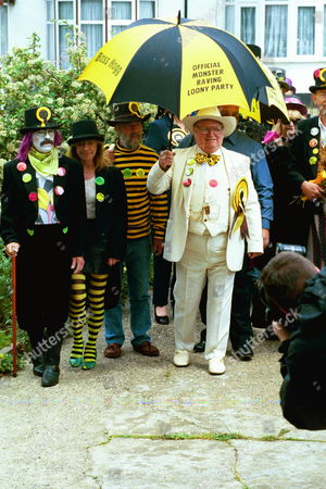 The Funeral Of Screaming Lord Sutch R.i.p. Saint Pauls Church South Harrow Some Of The Mourners.