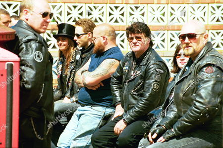 The Funeral Of Screaming Lord Sutch R.i.p. Saint Pauls Church South Harrow. Some Of The Mourners.