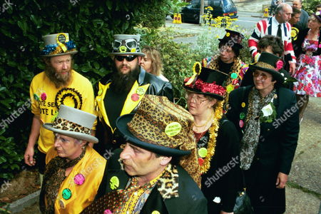 The Funeral Of Screaming Lord Sutch R.i.p. Saint Pauls Church South Harrow With Some Of The Mourners.