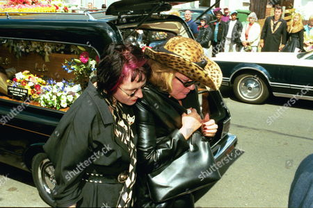 Stock Picture of The Funeral Of Screaming Lord Sutch R.i.p. Saint Pauls Church South Harrow With Giselle Menhennot (wearing A Hat).