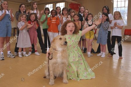 Stock Image of 10yr Old Charlene Barton And Dog 'cassie' Chosen To Star In The West End Revival Of Musical 'annie' To Open At The Victoria Palace In September. She Was Picked From The Final 19 Girls At The Auditions By Director Martin Charnin.