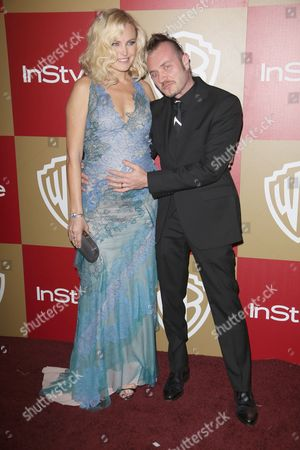 Stock Picture of Malin Akerman and husband Roberto Zincone