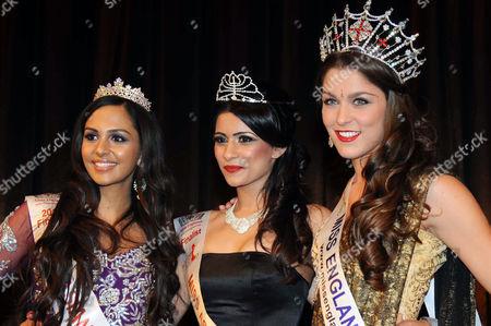 Simran Gill, Nikki Sahota and Charlotte Holmes (Miss England 2012)