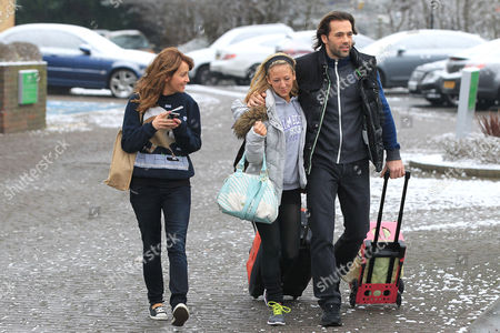Editorial picture of 'Dancing on Ice' stars leaving their hotel, Borehamwood, Hertfordshire, Britain - 14 Jan 2013