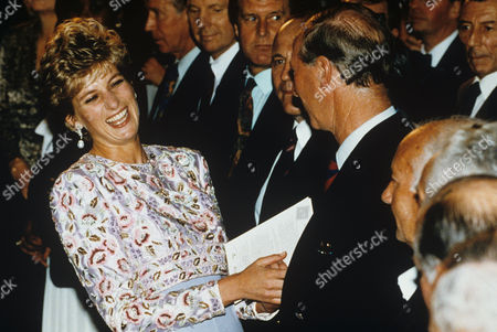 Princess Diana meeting the 1966 England World Cup squad - Jack Charlton