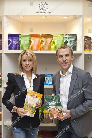 Phil Neville and wife Julie Neville