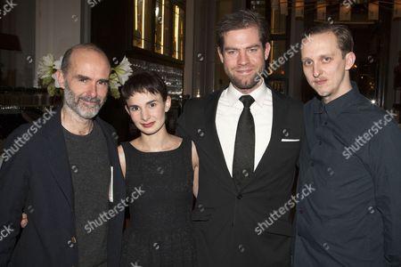 Finbar Lynch (The Uncle), Simona Bitmate (The Niece), Simon Evans (Director) and Leo Bill (Werner von Ebrennac)