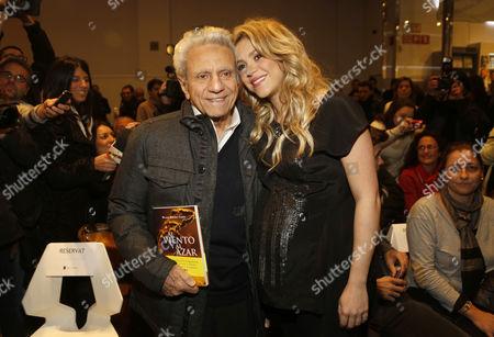 Stock Photo of William Mebarak Chadid and Shakira