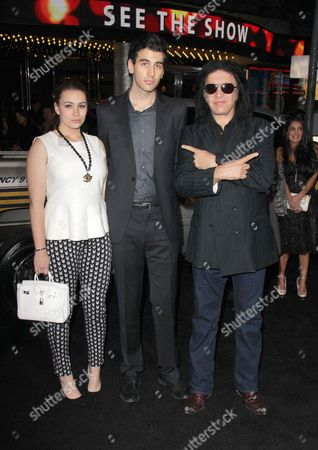 Sophie Tweed-Simmons, Nick Simmons and Gene Simmons