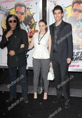 Gene Simmons, Sophie Tweed-Simmons and Nick Simmons