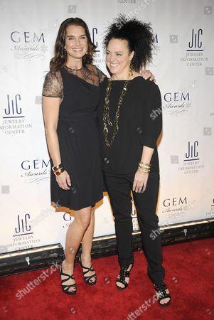 Brooke Shields and Ippolita Rostagno