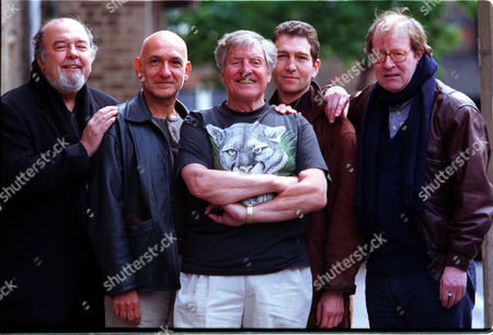 Cast & Director Of 'waiting For God' At The Old Vic. L-r Sir Peter Hall Ben Kingsley Denis Quilley Greg Hicks & Alan Howard.