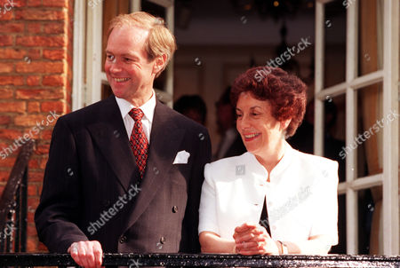Stock Picture of Peter Lilley A Contender And Gillian Shephard (now Baroness Shephard Of Northwold) At Peter Lilley's Party During Conservative Party Leadership Campaign. On Eve Of First Ballot 9th June.