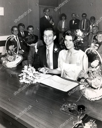 Steve Ovett Former Athlete With His Wife Rachel On Their Wedding Day.