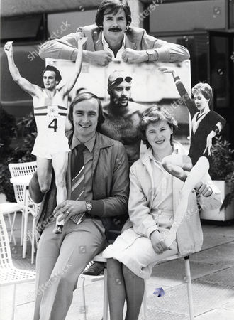 Barbara Slater Gymnast (right) (who In 2009 Was Appointed Bbc Head Of Sport) With David Wilkie (centre) And Alan Pascoe (left) Who Are All Flying Out To Moscow To Present The 1980 Olympic Games For London Weekend Television.