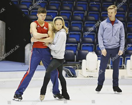 Luke Campbell and Jenna Smith with Christopher Dean