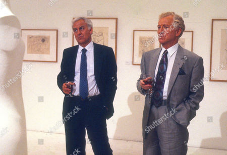 John Thaw as Chief Inspector Morse and Barry Foster as Sir Alexander Reece