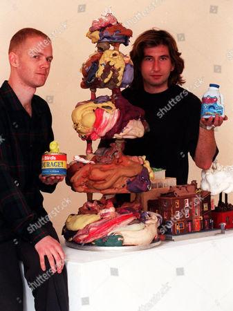 An Exhibition Of Edible Sculptures By Chris Jones (left) And Philip Jones.