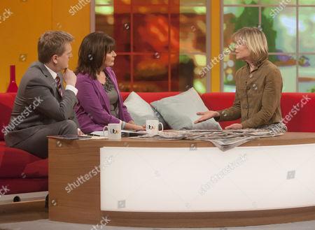 Aled Jones and Lorraine Kelly with Amanda Ursell
