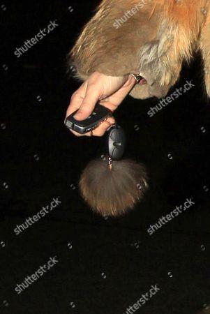 Martine McCutcheon's fur key fob
